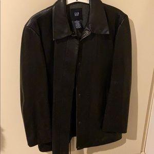 Gap leather jacket size large